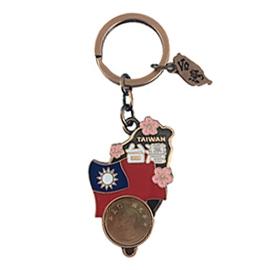~收藏天地~ 品~金屬鑰匙圈~ 國花錢幣款/ 旅遊 品 手信