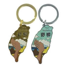 ~收藏天地~ 品~金屬鑰匙圈~野柳女王頭(2入色)/ 旅遊 品 手信