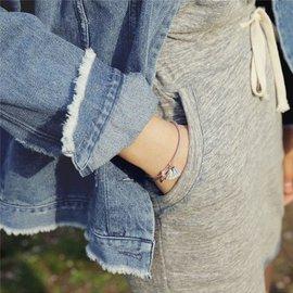 PS Mall 簡約甜美撞色流蘇彩色繩編織小流蘇手鍊手環腳鍊腳環~G2192~