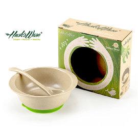 【紫貝殼】『DC41』美國 Husk's ware 兒童小餐碗(附小湯匙)顏色隨機【稻殼纖維材質,安全實用 】【保證公司貨●品質有保證】
