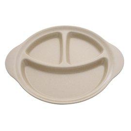 【紫貝殼】『DC48』美國 Husk's ware 兒童三格餐盤【稻殼纖維材質,安全實用 】【保證公司貨●品質有保證】