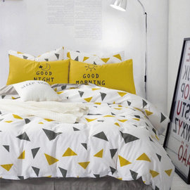 ~PAINT~北歐風格,早安 晚安,精梳棉,雙人加大床包,兩用薄被套四件組 A010401