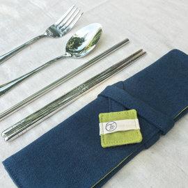 買5送1勺韓國 18~10醫用不鏽鋼高檔304家用實心扁筷子餐具