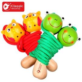 德國可來賽動物兒童跳繩幼兒園小學生 實木安全跳繩 親子款