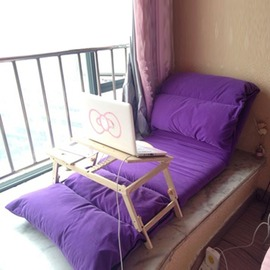 懶人沙發榻榻米單人臥室沙發床 小沙發飄窗躺椅可折疊拆洗