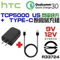 HTC TCP1000 TC P1000 US 旅充 QC2.0 U11 閃電 快充 9V