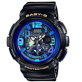 CASIO BABY~G 深邃夜空飛機機翼 雙顯錶~BGA~190GL~1B