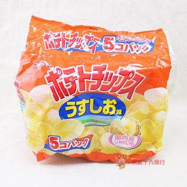 湖池屋_5P洋芋片^(鹽味^)150g_5包入