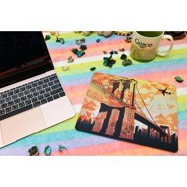 ^(可拉頌飾品^)布魯克林大橋滑鼠墊.電競滑鼠墊.布料滑鼠墊.卡通滑鼠墊