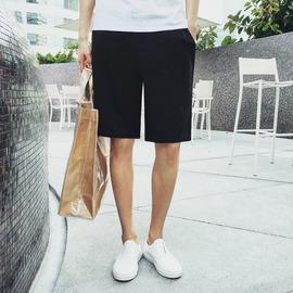 初裔小清新 男 短褲百搭直筒五分褲男寬鬆薄款純色休閒中褲