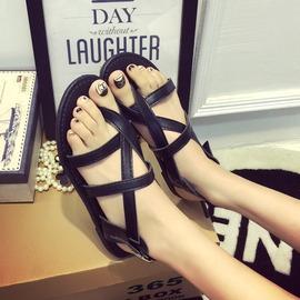 拖鞋英倫潮平底沙灘厚底夾腳趾涼鞋羅馬女式涼拖鞋子