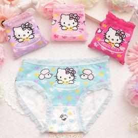 hello kitty花邊全棉兒童內褲 嬰幼兒三角褲 女童內衣內褲(2件一組)^~K107