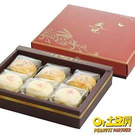 土豆們中秋禮 囍月椪餅2組 ^(90g 顆_火山豆酥、綠豆椪共6顆 盒^)中秋節伴手禮