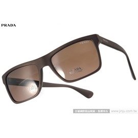 PRADA太陽眼鏡 PR01S TV64S0 (咖啡) 歐美時方框款 墨鏡 # 金橘眼鏡