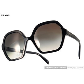PRADA太陽眼鏡 PR06S 1AB0A7 (黑) 名品時尚造型大框款 墨鏡 # 金橘眼鏡