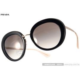 PRADA太陽眼鏡 PR16Q 1AB0A7 (黑-金) 華麗復古風名媛款 墨鏡 # 金橘眼鏡