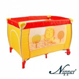 Nipper雙層遊戲床-點點紅,贈:黃色小鴨隨手包濕巾*1