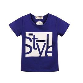 韓國 夏裝 英倫風字母男童t恤短袖 兒童寶寶純棉T圓領
