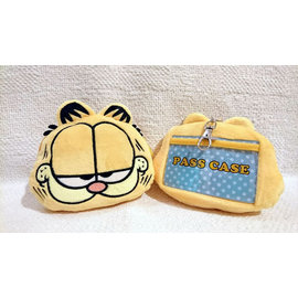 台北加菲貓 Garfield ~ 原單非常 版大容量伸縮拉卡零錢包 手機耳機包等^(萬用款