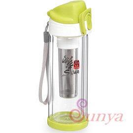 AN系列~SW~DBR300G 西華300ML雙層玻璃悠活瓶^(隨身瓶 水瓶 水壺 保溫瓶