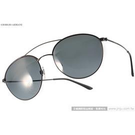 GIORGIO ARMANI 太陽眼鏡 GA6032J 300187 ^(黑^) 摩登 圓