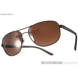 GIORGIO ARMANI 太陽眼鏡 GA6036 313873  黑~棕  率性男仕