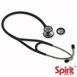 ~spirit~ 級心臟科輕型雙面聽診器 黑