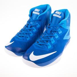 NIKE  AIR DEVOSION BG 大童籃球鞋-藍/白 845081400