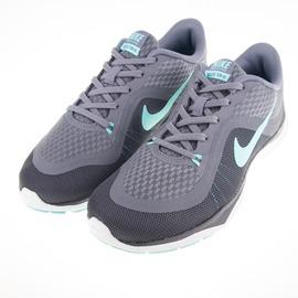 NIKE  FLEX TRAINER 5 女慢跑鞋-灰/綠 831217004