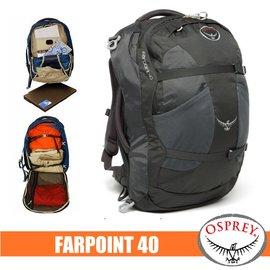 【美國 OSPREY】新款 Farpoint 40L 多功能登機箱/行李箱背包(附爆音哨+筆電腦包+快拆設計).登山健行.辨公洽公出國旅遊/木炭灰 R