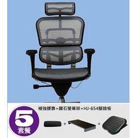 Ergohuman111 豪華版: 款 ~美製網~~套餐5~~送:補強腰靠 鑽石螢幕架