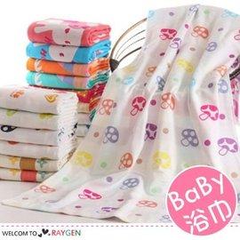 嬰兒浴巾三層紗布蘑菇動物圖案 寶寶蓋被【HH婦幼館】