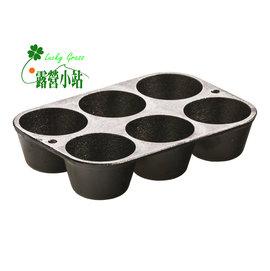 大林小草~【L5P3】美國LODGE 鑄鐵6格鬆餅煎鍋 -【國旅卡】