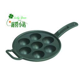 大林小草~【P7A3】美國LODGE 9吋7孔章魚燒鑄鐵煎鍋 -【國旅卡】