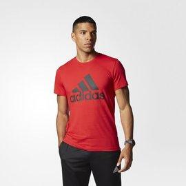 Adidas~ ClimaLite系列 棉質 短T恤-紅 (AY6230)