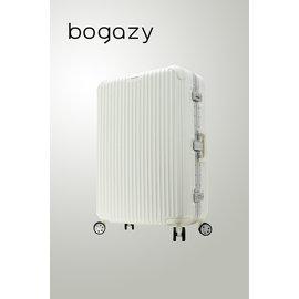 ~箱箱屋~Bogazy 20吋 絕世名伶鋁框鏡面PC 旅行箱 行李箱 海關鎖 ^(白^)