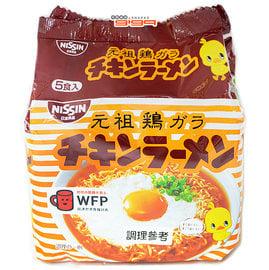 【吉嘉食品】日清元祖雞汁拉麵 1封5入425公克175元,日本進口,另有火辣雞肉風味鐵板炒麵{4902105051108:1}