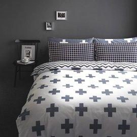 ~PAINT~北歐風格,雅緻幾何,精梳棉,雙人加大床包,兩用薄被套四件組 A0104011