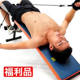 特長^!^!弧形仰臥起坐板 拉力器 C153~005~~Z ^(展示品^)健腹機健腹器.拉
