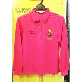 ~H.Y SPORT~SASAKI 抗紫外線吸排 精梳棉質POLO長衫 841175 桃紅