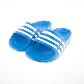 ADIDAS  Duramo Side 系列兒童舒適拖鞋-水藍 D67479