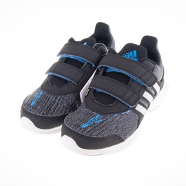 ADIDAS  黏扣 兒童慢跑鞋-黑/灰/藍 AQ3867