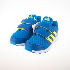 ADIDAS  黏扣 兒童慢跑鞋-藍/綠 AQ4823