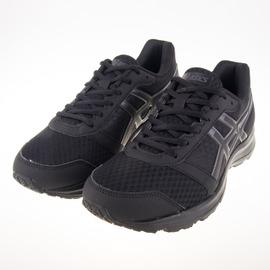 Asics  大尺碼  全黑 警察 學生 PATRIOT 8 慢跑鞋 T619N-9990
