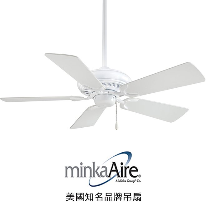 MinkaAire Supra 44英吋吊扇^(F563~WH^)白色 於110V電壓
