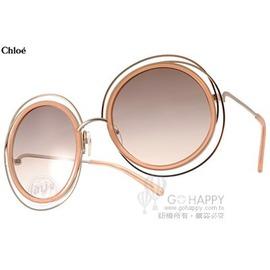 Chloe 太陽眼鏡 CL120S 724 ^(粉膚~金^) 復古元素 細緻金屬框 墨鏡