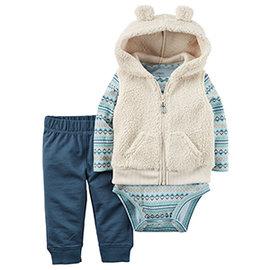 ~MerryGoAround~ Carter s Vest Set: 3件組連帽刷毛背心