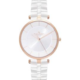 Max Max 自信簡約美學陶瓷腕錶~白^(MAS5132~2^) 40mm