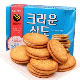 萬花筒 ~crown香草夾心餅乾~首爾  161g  咖啡伴侶  香酥  超 零嘴