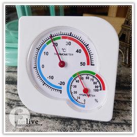 【Q禮品】B3036 溫度溼度計/免電池/指針式/可掛式/溫度計/濕度計/測試器/環境管理/倉庫濕度測量器